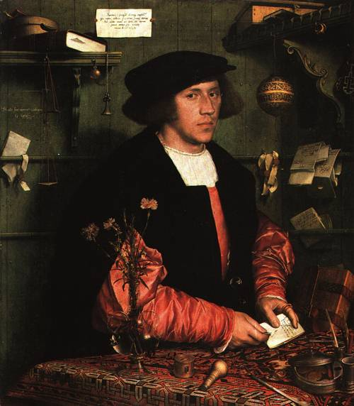 Portrait of Georg Gisze Merchant 1532 | Hans Holbein the Younger | Oil Painting