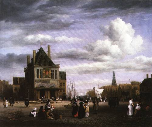 Damrak Square in Amsterdam 1675 80 | Jacob van Ruidael | Oil Painting
