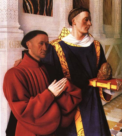 Estienne Chevalier with St Stephen | Jean Fouquet | Oil Painting