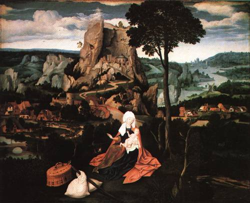 The Rest on the Flight into Egypt 1520 | Joachim Patenier | Oil Painting