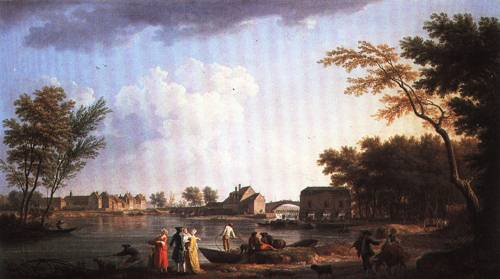 View of Nogent sur Seine 1764 | Joseph Vernet | Oil Painting