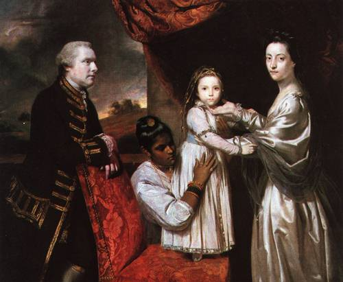 George Clive and his Family with an Indian Servant Girl 1765 | Joshus Reynolds | Oil Painting