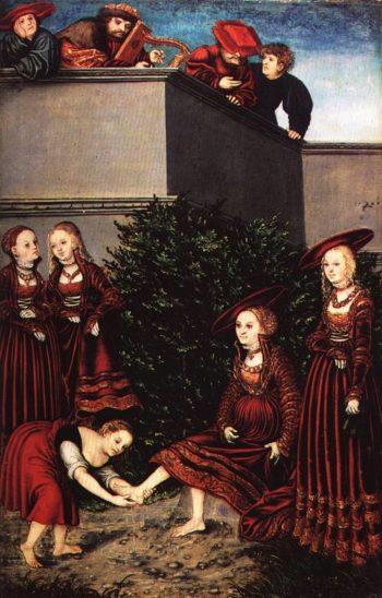 David and Bathsheba 1526 | Lucas Cranach the Elder | Oil Painting