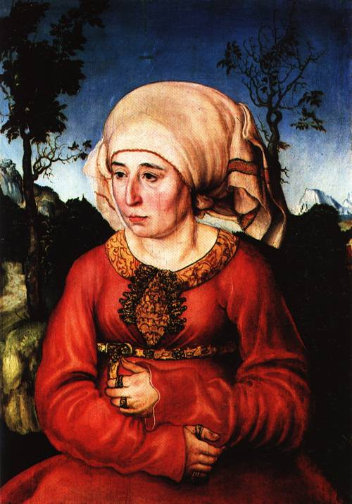 Portrait of a Law Scholars Wife 1503 | Lucas Cranach the Elder | Oil Painting