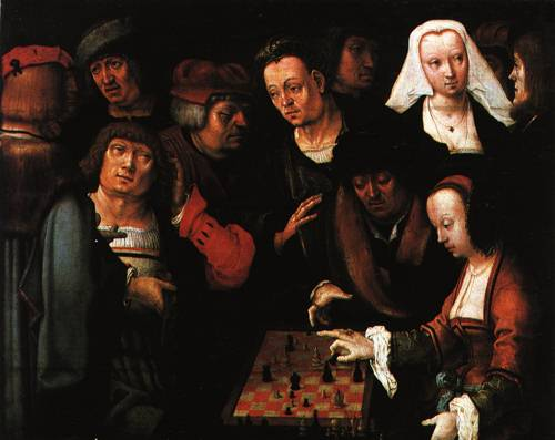 The Game of Chess 1508 | Lucas van Leyden | Oil Painting
