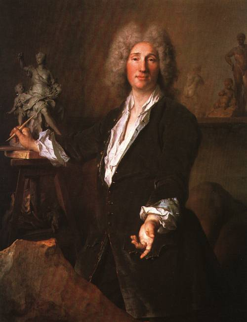 The Sculptor Nicolas Coustou in his Studio 1710 12 | Nicolas de Largilliere | Oil Painting