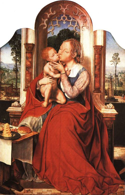 The Virgin Enthroned with Child 1520 | Quinten Massys | Oil Painting
