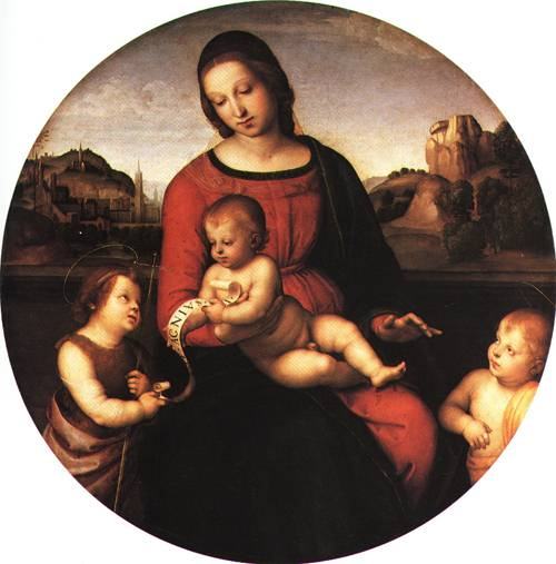 The Virgin and Child with Infant St John 1505 | Raffaello Sanzio called Raphael | Oil Painting