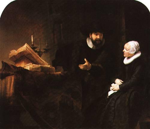 The Mennonite Preacher Anslo and his Wife 1641 | Rembrandt | Oil Painting