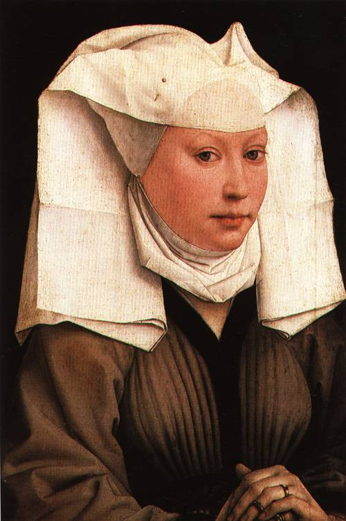 Portrait of a Young Woman with a White Headdress 1435 | Rogier van der Weyden | Oil Painting