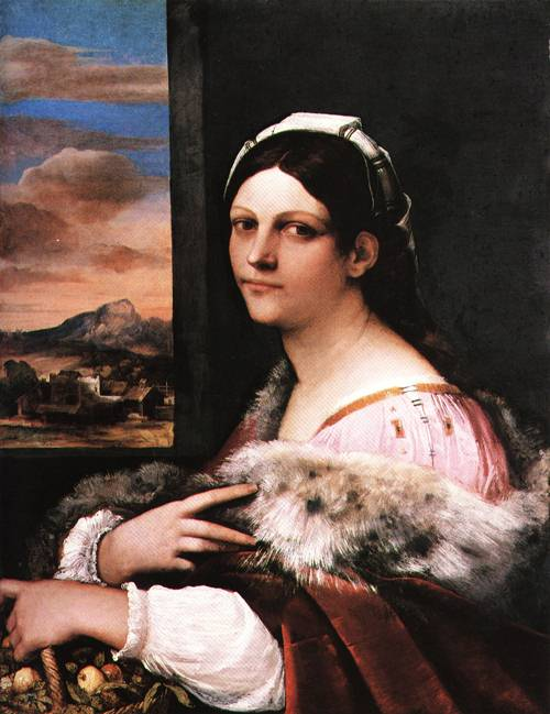 Potrait of a Young Roman Woman 1513 | Sebastiano Luciani called del Piombo | Oil Painting