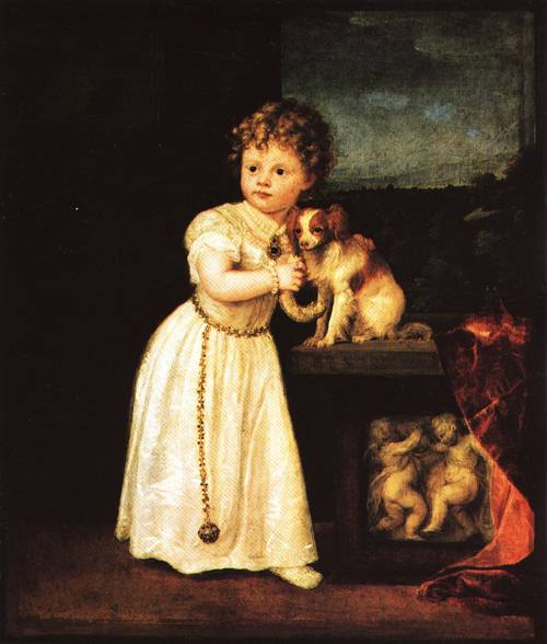 Clarissa Strozzi At the Age of Two 1542 | Tiziano Vecellio called Titian | Oil Painting