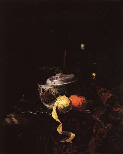 Still Life with Chinese Porcelain Bowl 1662 | Willem Kalf | Oil Painting