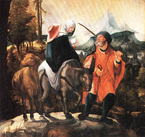 The Flight into Egypt 1525 30 | Wolf Huber | Oil Painting
