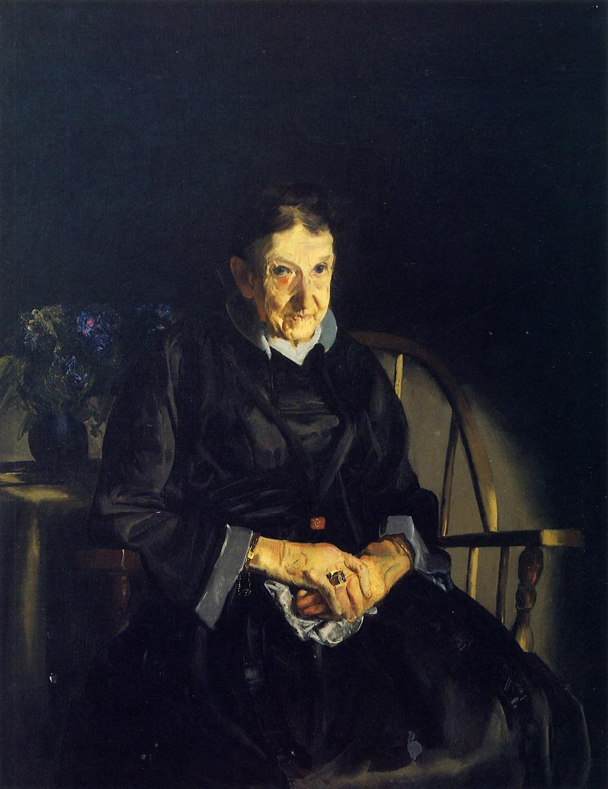 Aunt Fanny (aka Old Lady in Black) 1920 | George Bellows | Oil Painting