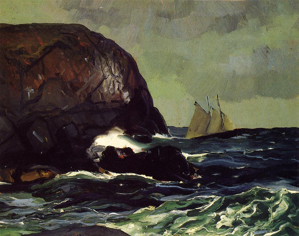 Beating out to Sea 1913 | George Bellows | Oil Painting