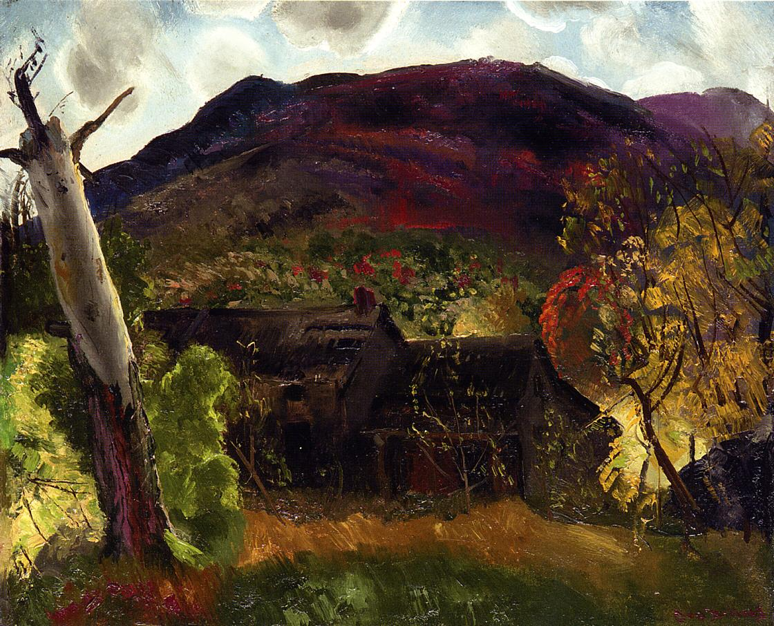 Blasted Tree and Deserted House 1920 | George Bellows | Oil Painting