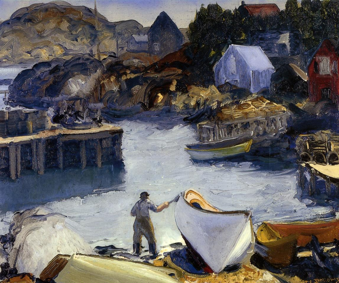 Cleaning His Lobster Boat 1916 | George Bellows | Oil Painting