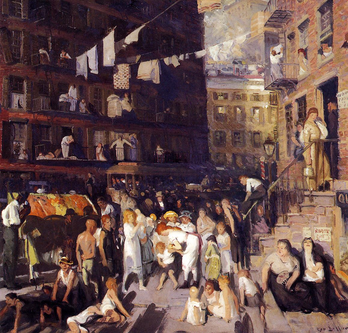 Cliff Dwellers 1913 | George Bellows | Oil Painting