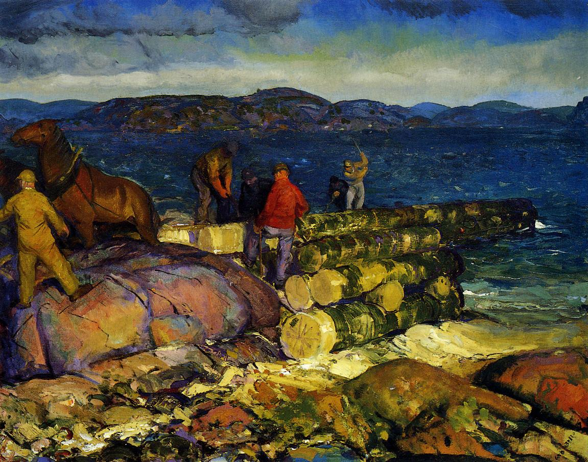 Dock Builders 1916 | George Bellows | Oil Painting