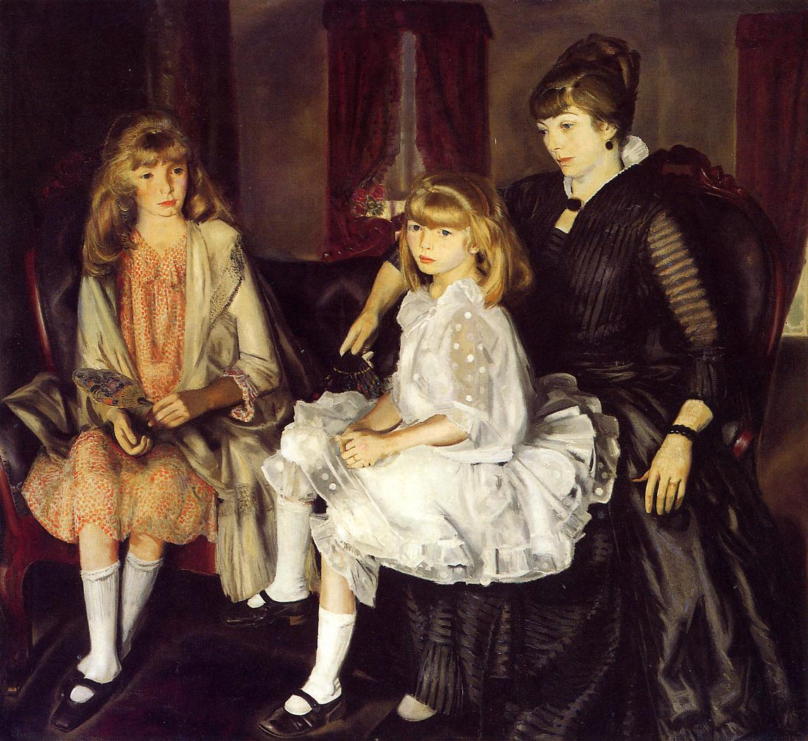 Emma and Her Children 1923 | George Bellows | Oil Painting