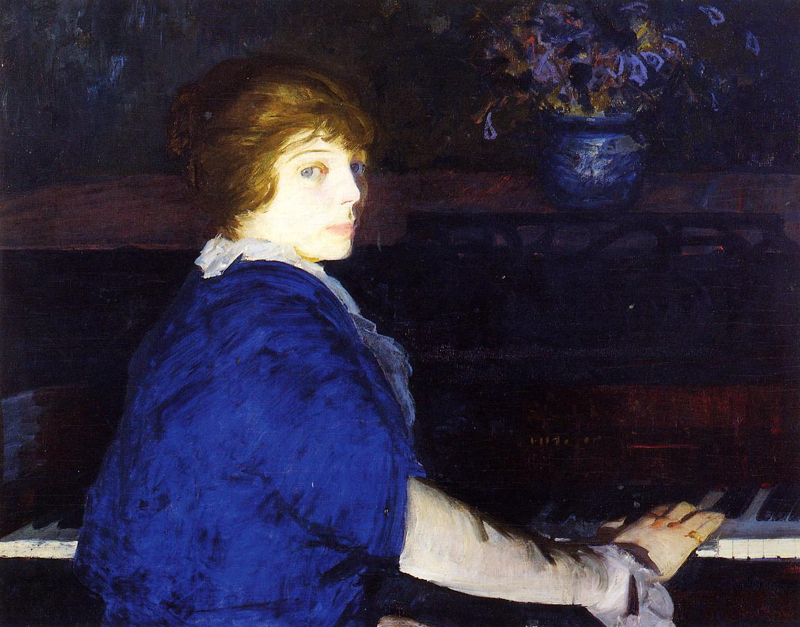 Emma at the Piano 1914 | George Bellows | Oil Painting