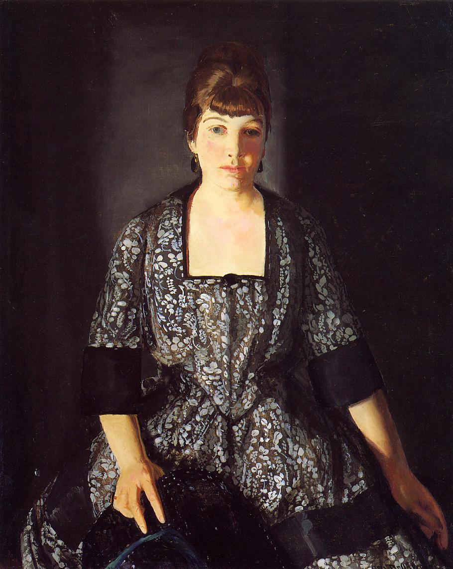 Emma in the Black Print 1919 | George Bellows | Oil Painting
