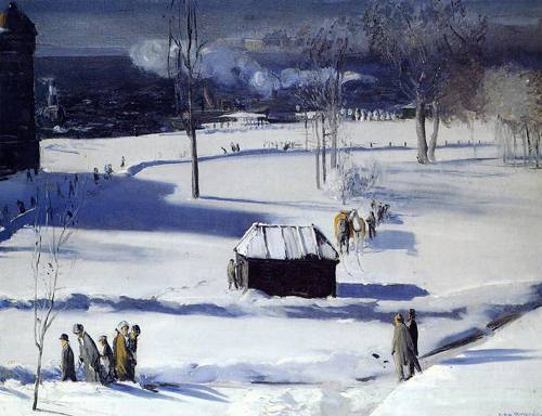Blue Snow the Battery 1910
