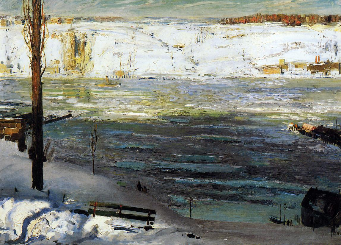 Floating Ice 1910 | George Bellows | Oil Painting