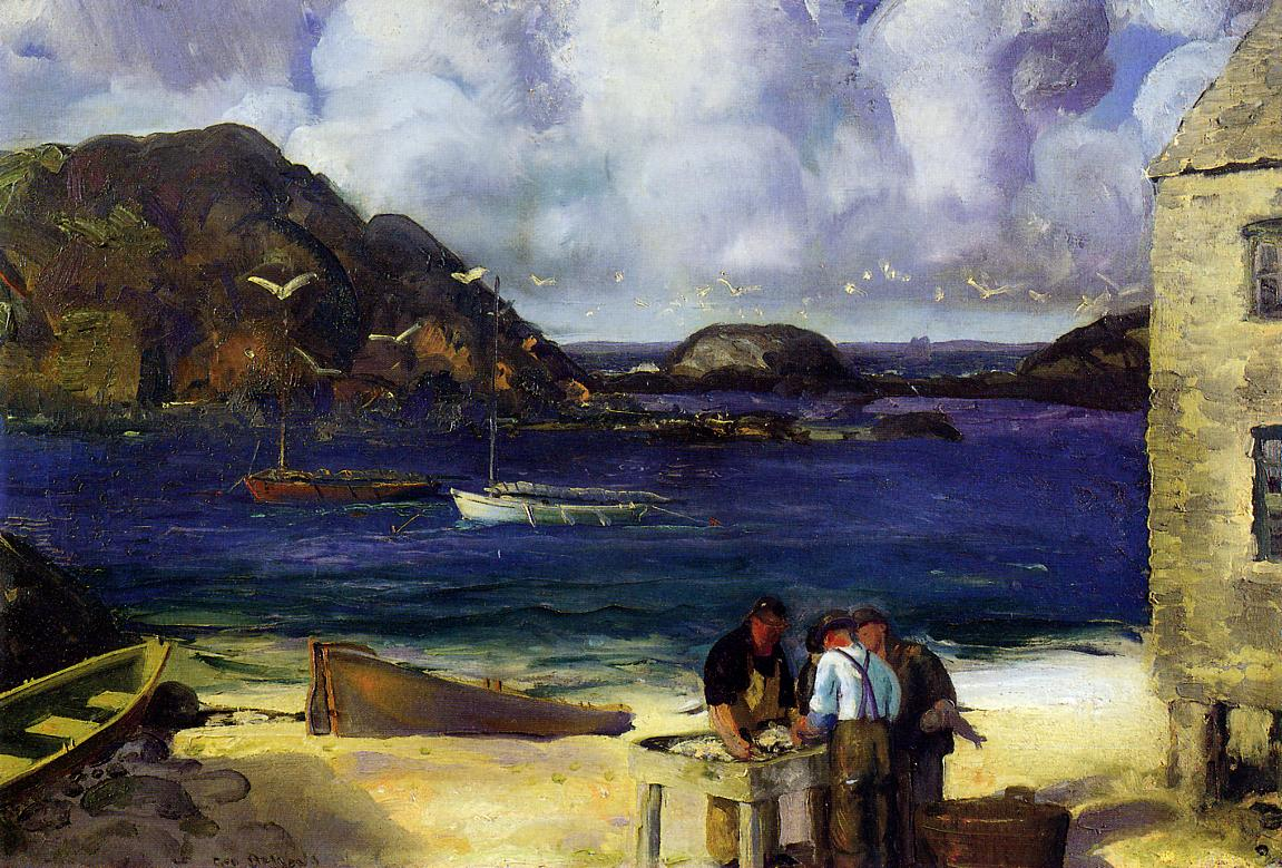Harbor at Monhegan 1913-1915 | George Bellows | Oil Painting