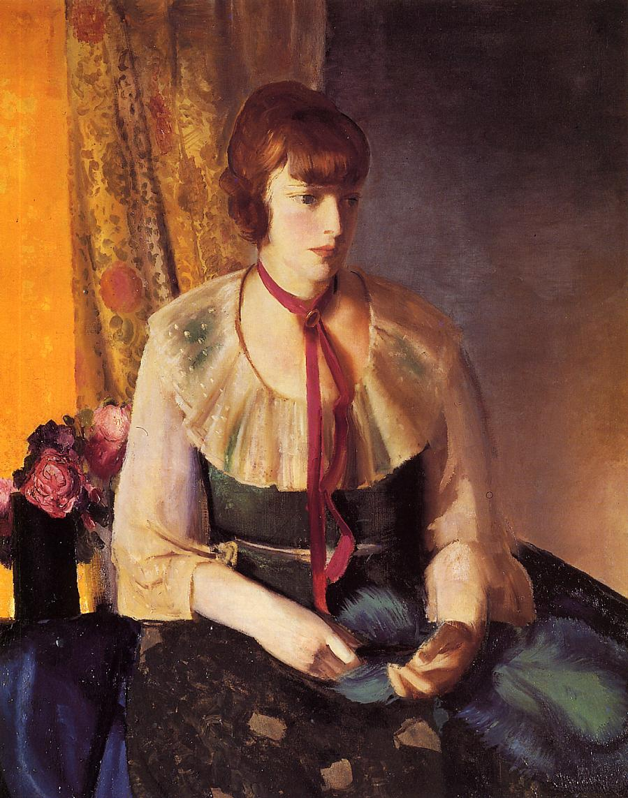 Lady in a Green Dress 1924   George Bellows   Oil Painting