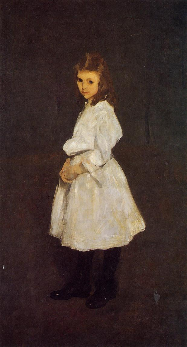 Little Girl in White (aka Queenie Barnett) 1907 | George Bellows | Oil Painting