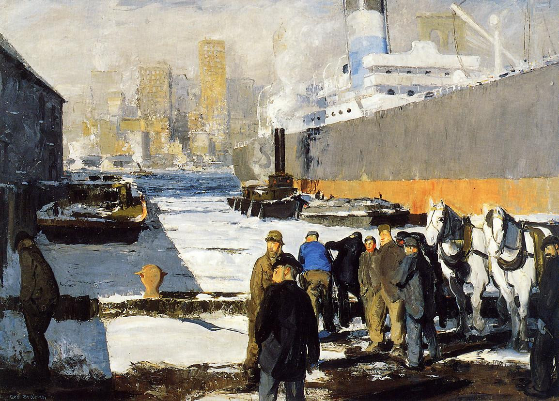 Men of the Docks 1912 | George Bellows | Oil Painting