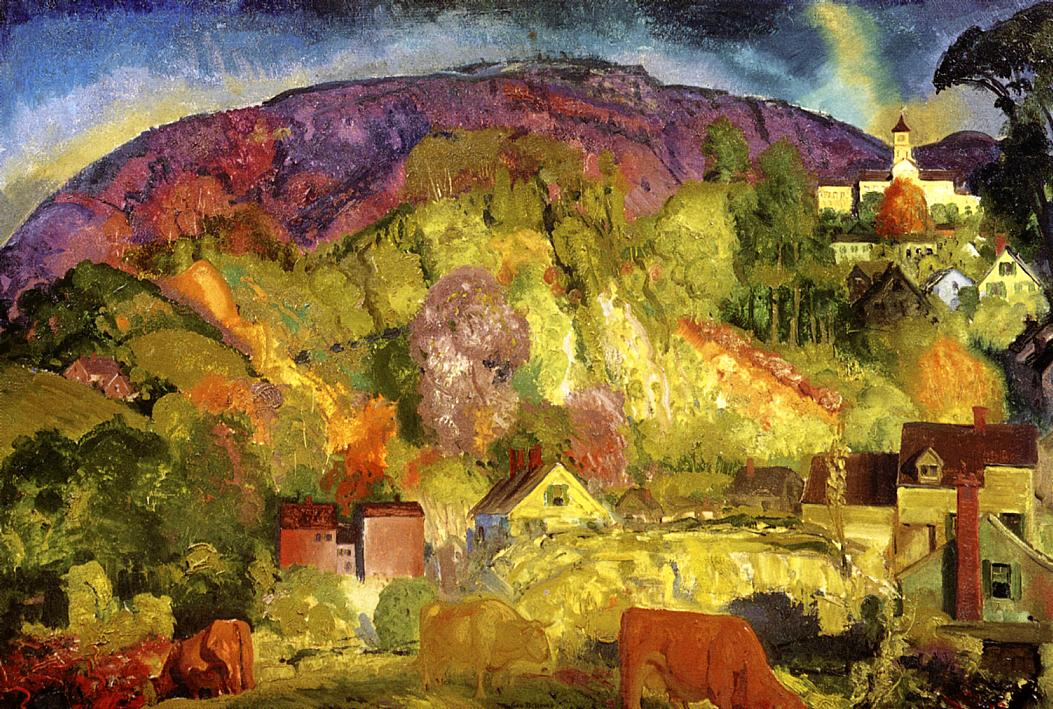 The Village on the Hill 1917 | George Bellows | Oil Painting