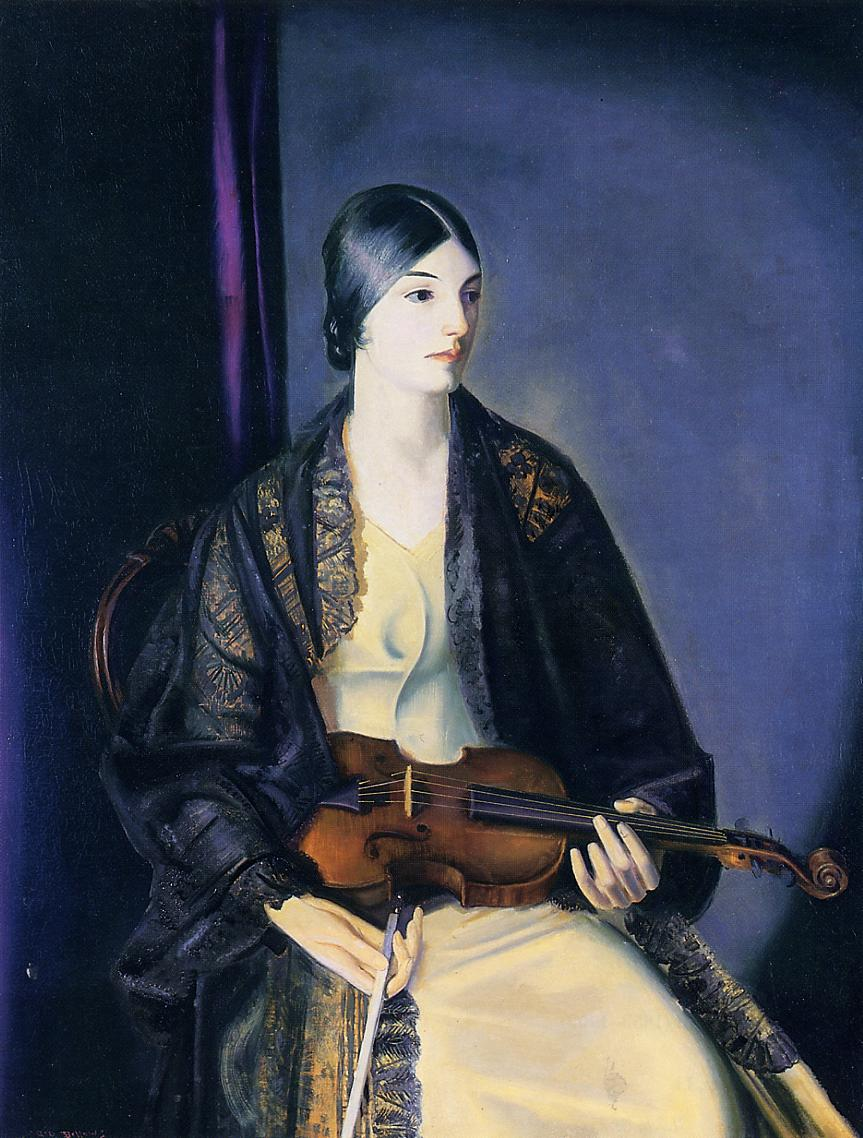 The Violinist Leila Kalman 1924 | George Bellows | Oil Painting