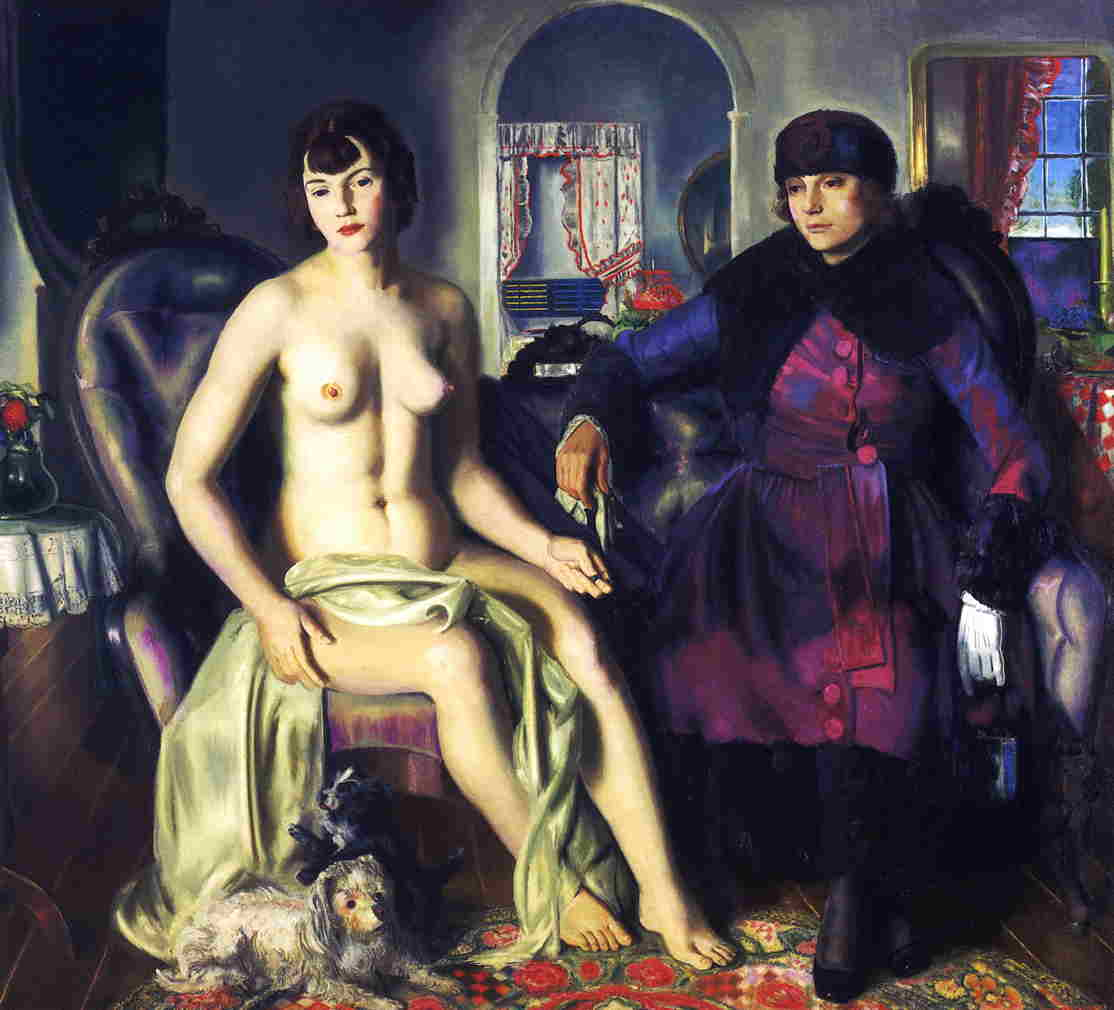 Two Women (aka Sacred and Profane Love) 1924 | George Bellows | Oil Painting
