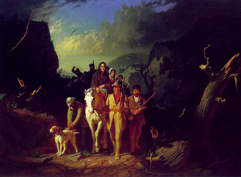 Daniel Boone Escorting Through the Cumberland Gap 1851-52 | George Caleb Bingham | Oil Painting