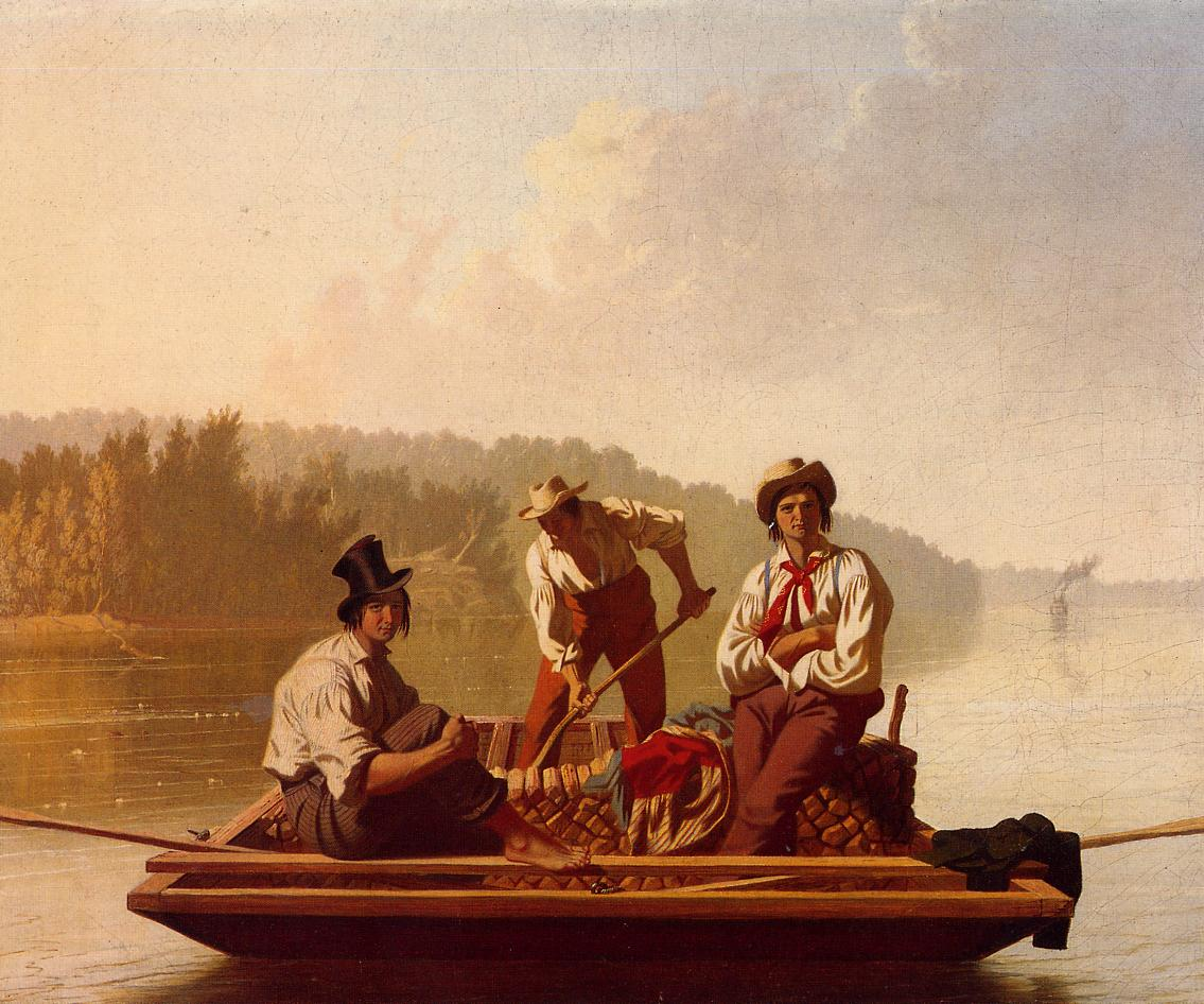 Boatmen on the Missouri 1846 | George Caleb Bingham | Oil Painting