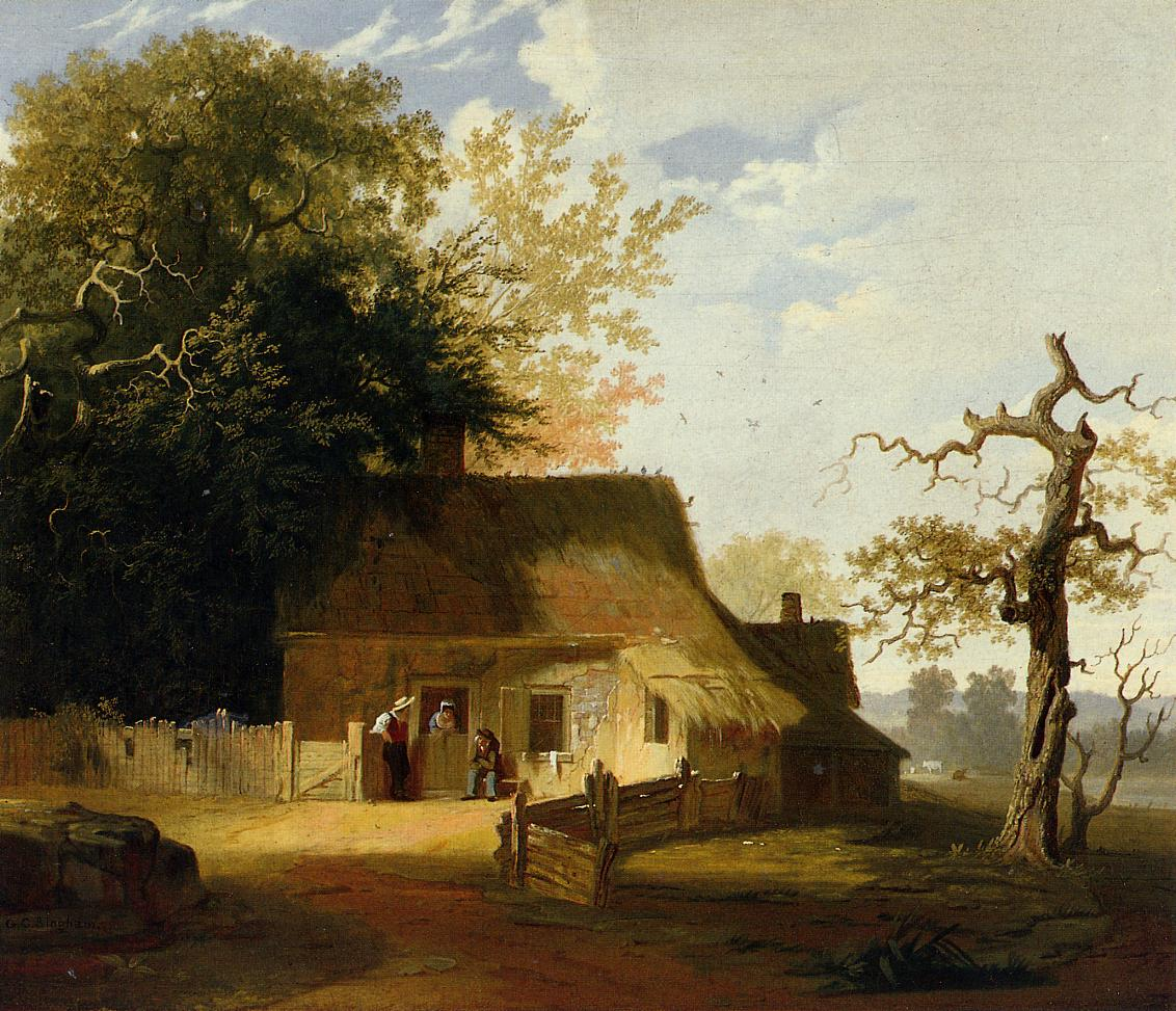 Cottage Scene 1845 | George Caleb Bingham | Oil Painting