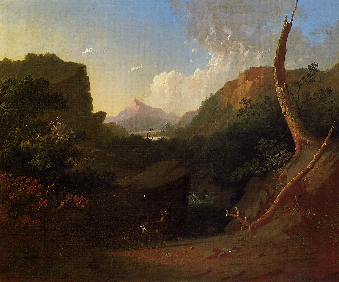 Deer in a Stormy Landscape 1852-1853 | George Caleb Bingham | Oil Painting