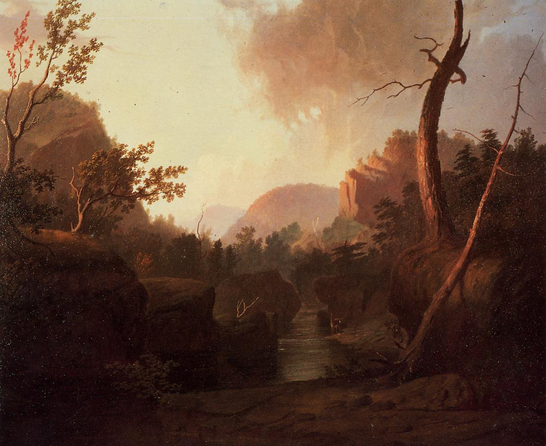 Deer in Landscape | George Caleb Bingham | Oil Painting