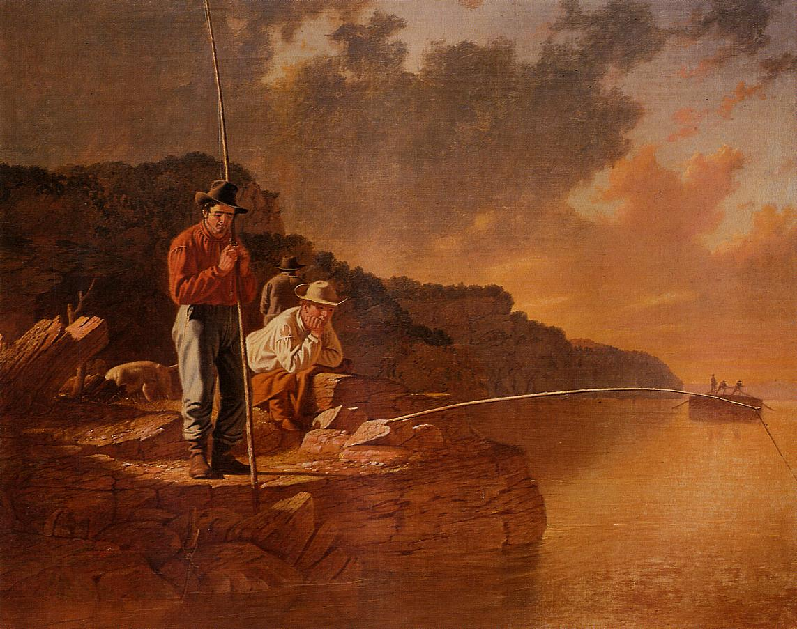 Fishing on the Mississippi 1851 | George Caleb Bingham | Oil Painting