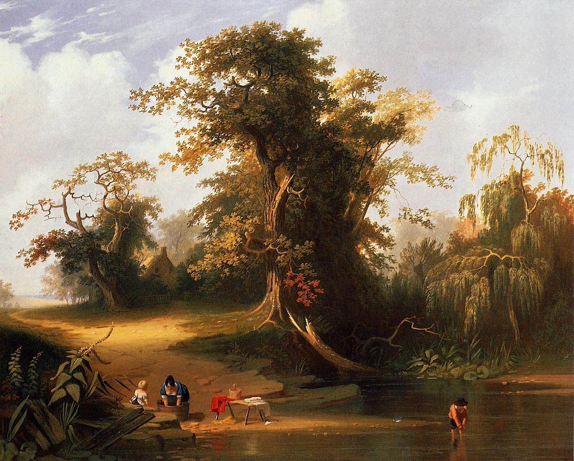 Landscape Rudal Scene 1845 | George Caleb Bingham | Oil Painting