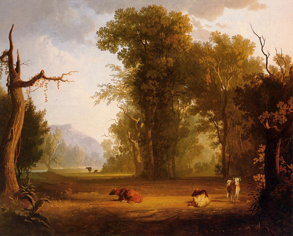 Landscape with Cattle 1846 | George Caleb Bingham | Oil Painting