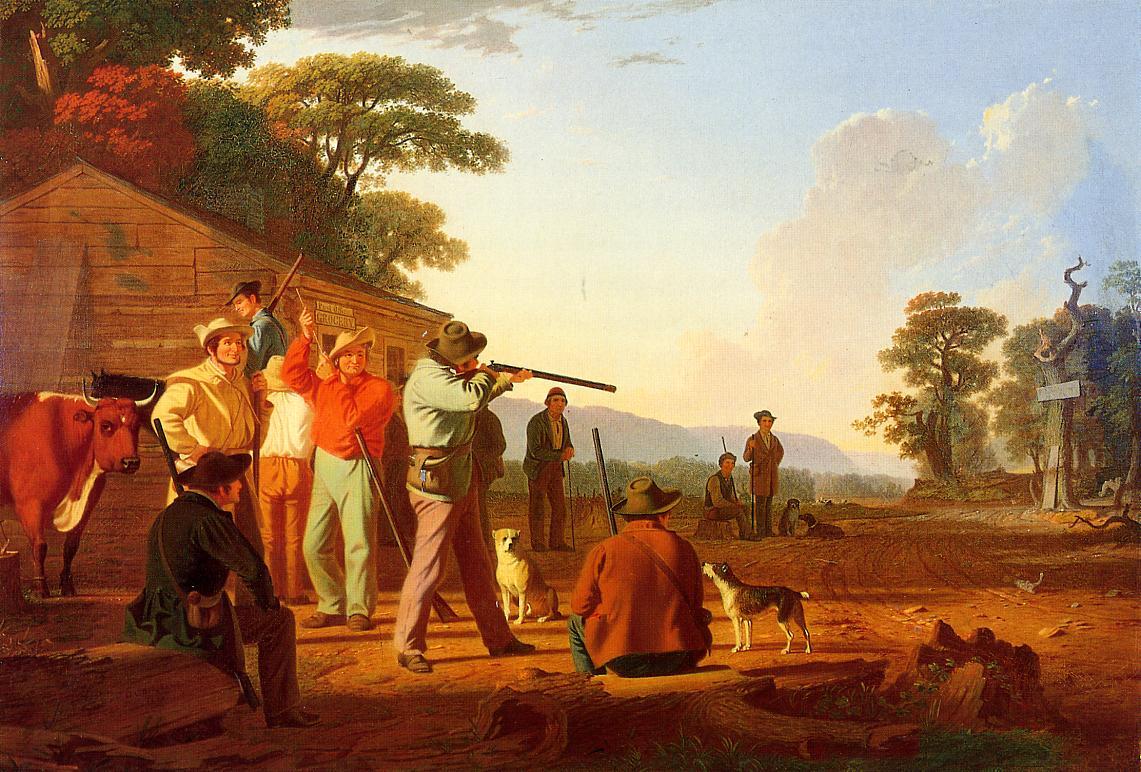 Shooting for the Beef 1850 | George Caleb Bingham | Oil Painting