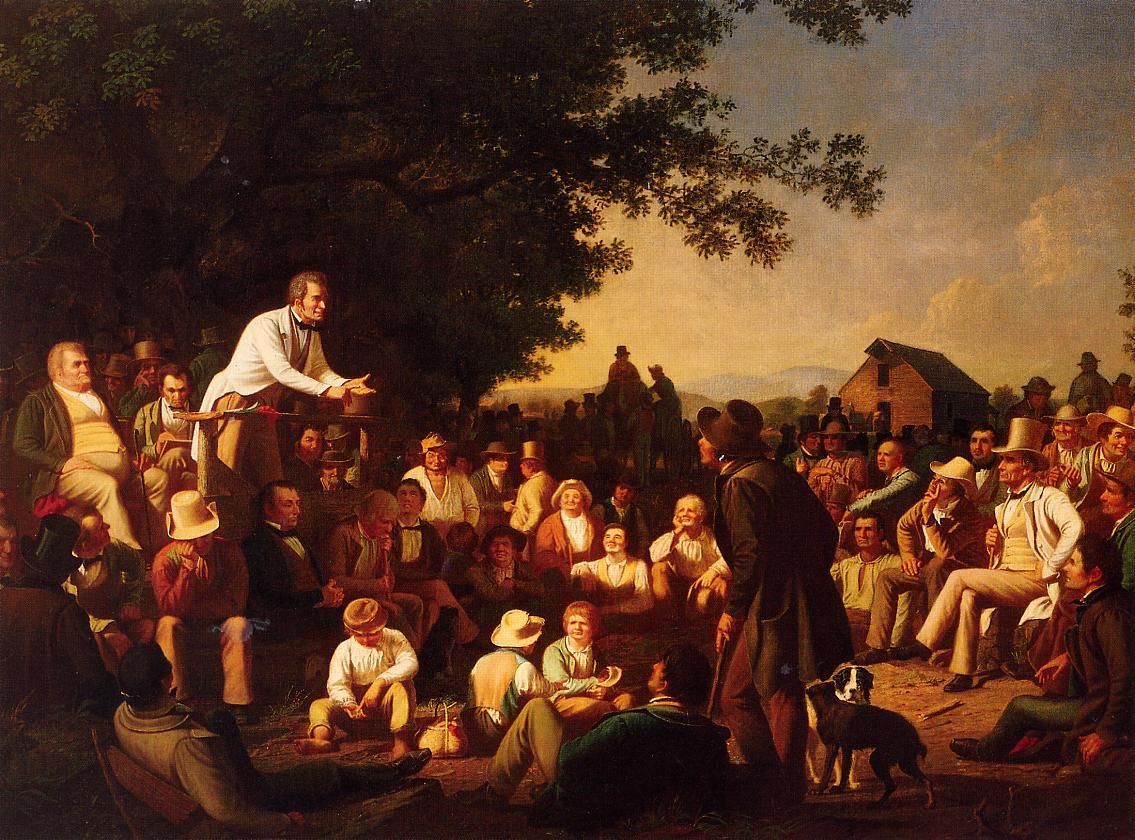Stump Speaking 1853-1854 | George Caleb Bingham | Oil Painting