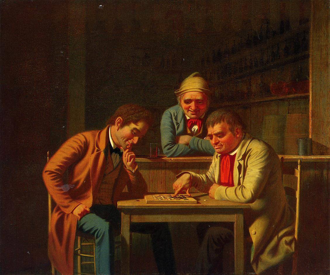 The Checker Players 1850 | George Caleb Bingham | Oil Painting