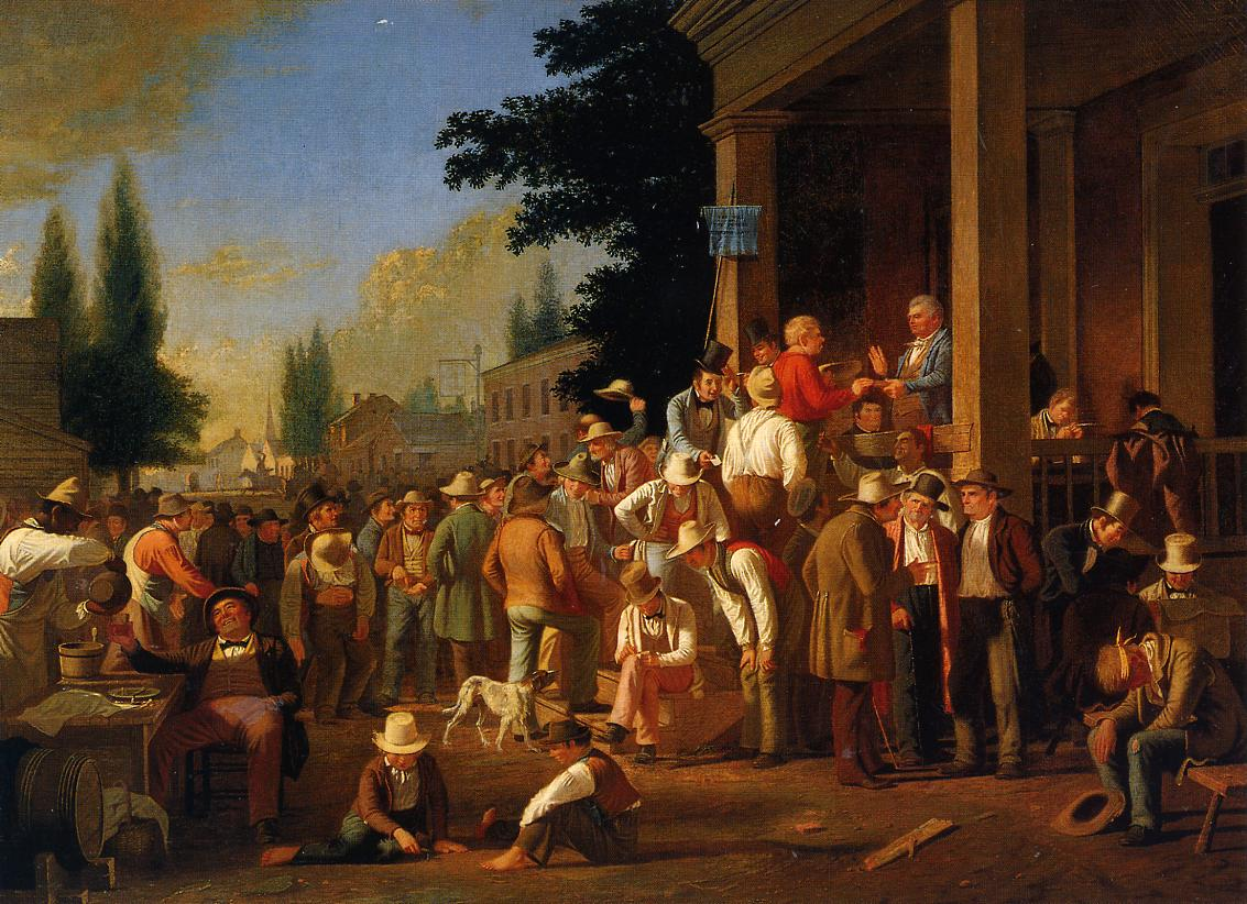 The County Election (no.1) 1851-1852   George Caleb Bingham   Oil Painting