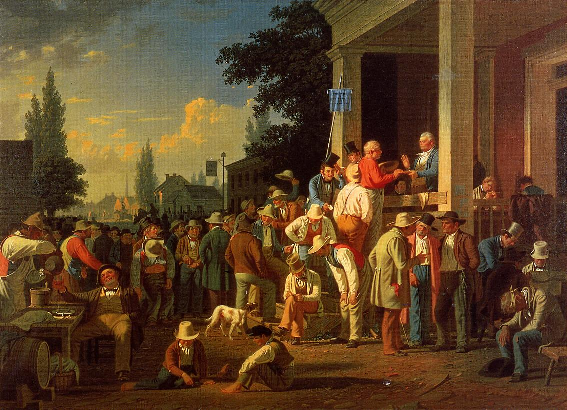 The County Election (no.2) 1852   George Caleb Bingham   Oil Painting