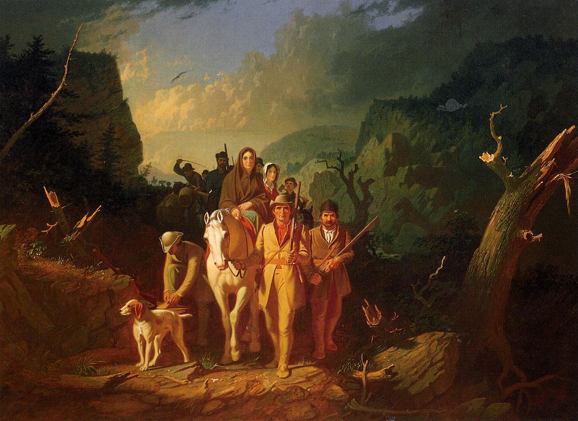 The Emigration of Daniel Boone 1851-1862   George Caleb Bingham   Oil Painting
